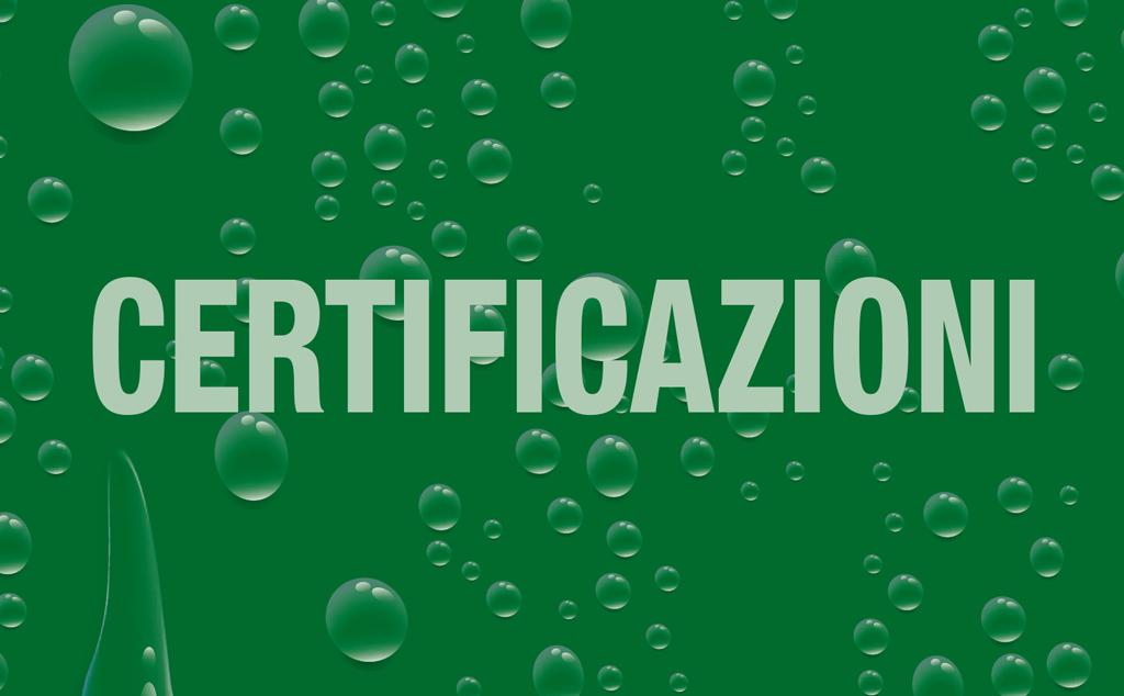 Certificazioni Catalogo 2019 | DEPURTECNICA